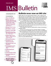 IMS Bulletin 48(7) cover image