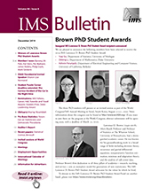 IMS Bulletin 48(8) cover image