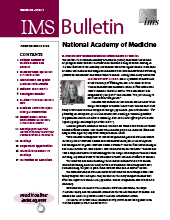 IMS Bulletin 49(1) cover image