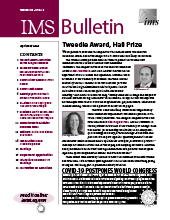 IMS Bulletin 49(3) cover image