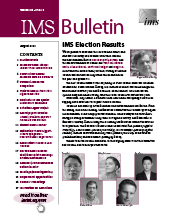 IMS Bulletin 49(5) cover image