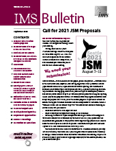 IMS Bulletin 49(6) cover image