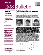 IMS Bulletin 49(8) cover image