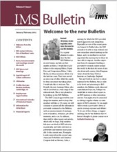 IMS Bulletin 31(1) cover image