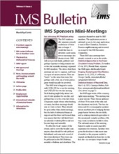 IMS Bulletin 31(2) cover image