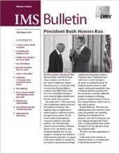 IMS Bulletin 31(4) cover image