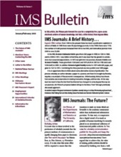 IMS Bulletin 32(1) cover image