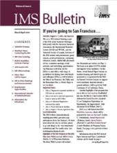 IMS Bulletin 32(2) cover image