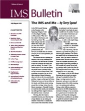 IMS Bulletin 32(4) cover image