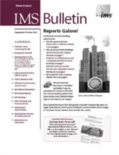 IMS Bulletin 32(5) cover image