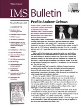 IMS Bulletin 32(6) cover image