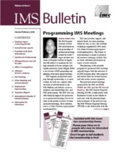 IMS Bulletin 33(1) cover image