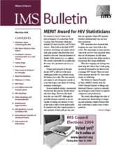 IMS Bulletin 33(3) cover image