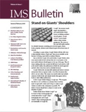 IMS Bulletin 34(1) cover image