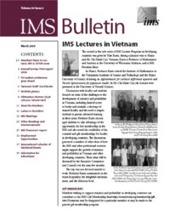 IMS Bulletin 34(2) cover image