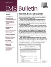 IMS Bulletin 34(3) cover image