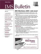 IMS Bulletin 34(4) cover image