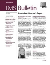 IMS Bulletin 34(5) cover image