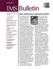 IMS Bulletin 34(6) cover image