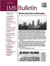 IMS Bulletin 34(9) cover image