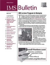 IMS Bulletin 35(2) cover image