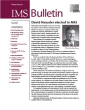 IMS Bulletin 35(5) cover image