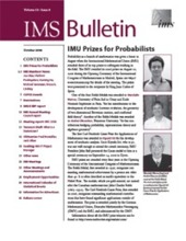 IMS Bulletin 35(8) cover image