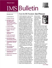 IMS Bulletin 35(9) cover image