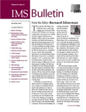 IMS Bulletin 35(10) cover image