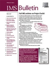 IMS Bulletin 36(2) cover image