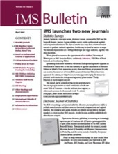 IMS Bulletin 36(3) cover image