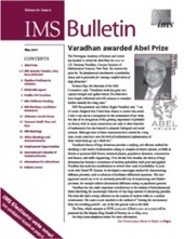 IMS Bulletin 36(4) cover image