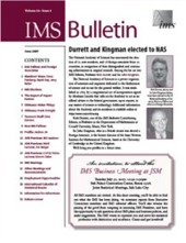 IMS Bulletin 36(5) cover image