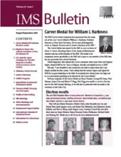 IMS Bulletin 36(7) cover image