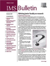 IMS Bulletin 36(9) cover image