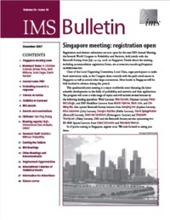 IMS Bulletin 36(10) cover image