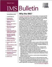 Click Cover To Download PDF IMS Bulletin 371 Image