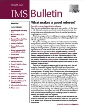 IMS Bulletin 37(2) cover image