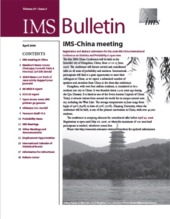 IMS Bulletin 37(3) cover image