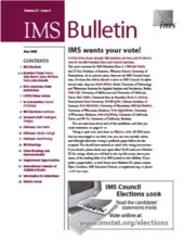 IMS Bulletin 37(4) cover image