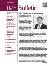 IMS Bulletin 37(5) cover image
