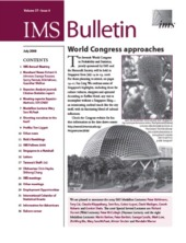 IMS Bulletin 37(6) cover image
