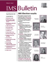 IMS Bulletin 37(7) cover image