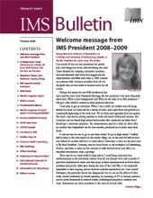 IMS Bulletin 37(8) cover image