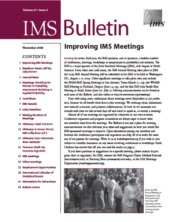 IMS Bulletin 37(9) cover image