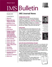 IMS Bulletin 37(10) cover image
