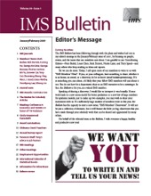 IMS Bulletin 38(1) cover image