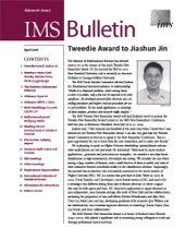 IMS Bulletin 38(3) cover image