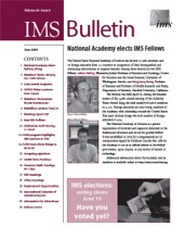 IMS Bulletin 38(5) cover image