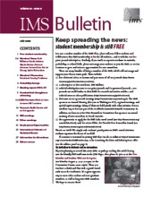IMS Bulletin 38(6) cover image
